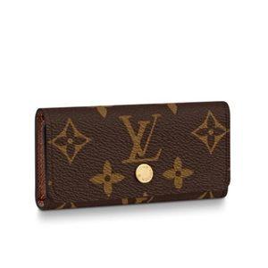 Louis Vuitton Monogram 6 Key Holder Pouch Purse